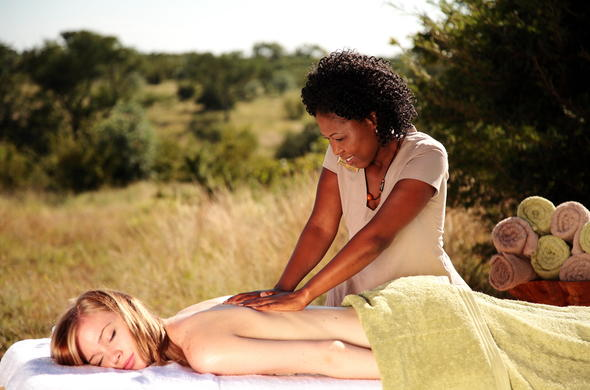 Spa treatment at Sabi Sabi Game Reserve.