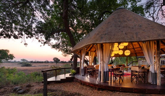 Safari deck of Sabi Sabi Selati Camp.